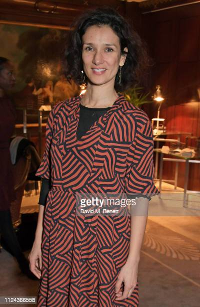 Indira Varma attends the press night after party for All About Eve at The Waldorf Hilton on February 12 2019 in London England