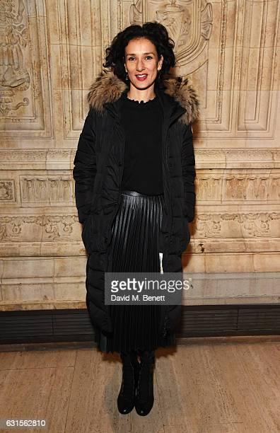 Indira Varma attends the press night performance of 'Cirque du Soleil Amaluna' on January 12 2017 in London United Kingdom