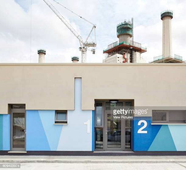 Individual entrance to kennel block. Battersea Dogs & Cats Home, London, United Kingdom. Architect: Jonathan Clark Architects, 2015.