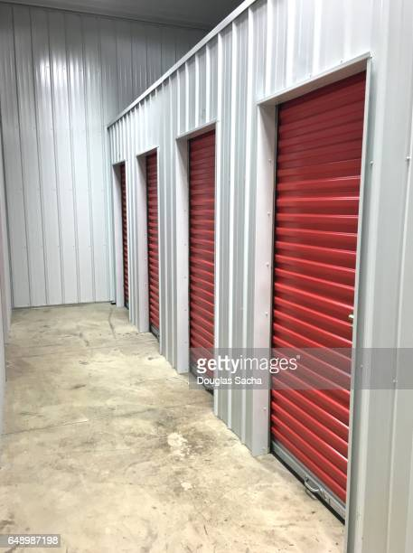 individual lockers at a storage facility - storage compartment stock pictures, royalty-free photos & images