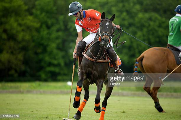 Individual polo player on a horse