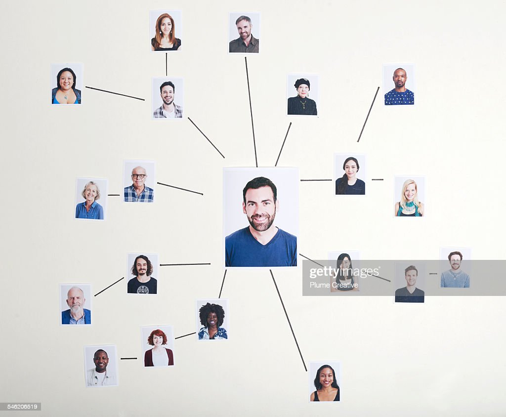 Individual's network : Stock Photo