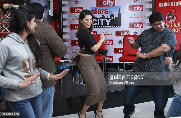 IndoCanadian Bollywood actor model and former porn star Sunny Leone with film director and writer Milap Zaveri during an exclusive interview with HT...