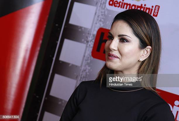 IndoCanadian Bollywood actor model and former porn star Sunny Leone speaking during an exclusive interview with HT CityHindustan Times for the...