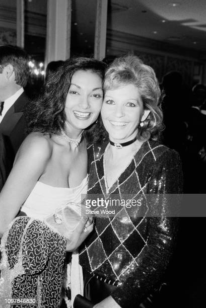 Indo-Guyanese-British actress and fashion model Shakira Caine and Italian actress Luisa Mattioli attend gala dinner to honour Prince Andrew by the...