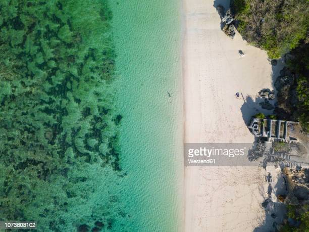 indonesia, bali, aerial view of karma kandara beach - karma stock photos and pictures