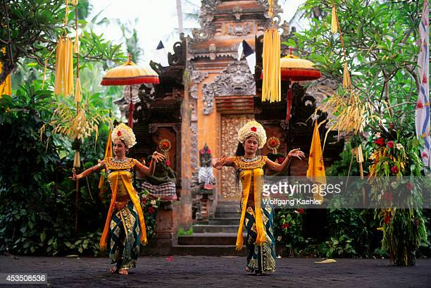 Indonesia Bali Barong Dance Girl Dancers Representing The Servants Of The Rangda