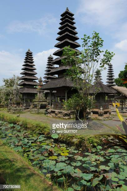 Indonesia, Bali, Mengwi, the royal temple of Taman Ayun. Taman Ayun means pretty garden. Built in the 17th Century, it is surrounded by a ditch of water. The bunk roofs are called Atap Meru. The temple is a UNESCO World Heritage site