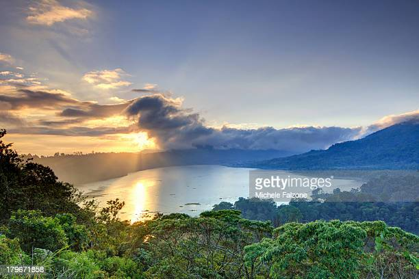 indonesia, bali, mountain and lakes - indonesia stock pictures, royalty-free photos & images