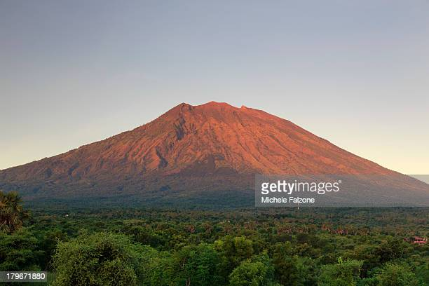 Indonesia, Bali, Rice Fields and Volcanoes