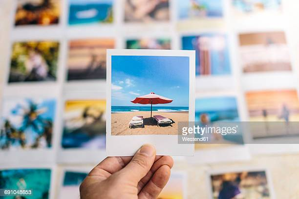 Indonesia, Bali, summer holiday on polaroid pictures