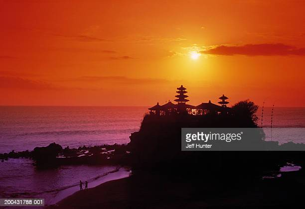Indonesia, Bali, Tanah Lot Temple, sunset