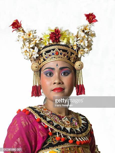 Indonesia, Bali, Ubud, female traditional dancer, portrait