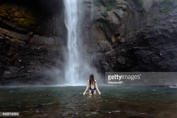 Woman Bathe Waterfall Stock Photos and Pictures | Getty Images