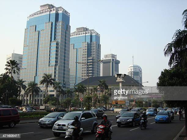 indonesia bank towers, jakarta - indonesia - indonesia stock pictures, royalty-free photos & images