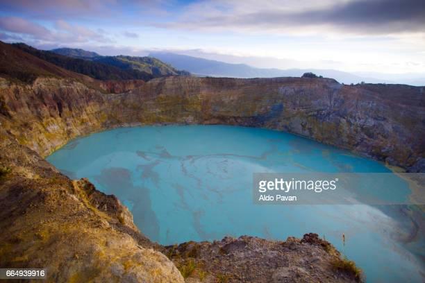 Indonesia, Flores Island, Kelimutu volcan