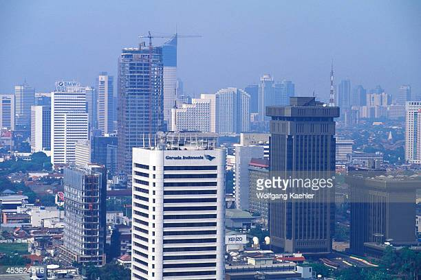 Indonesia Jakarta Merdeka Square National Monument View Of City From Top