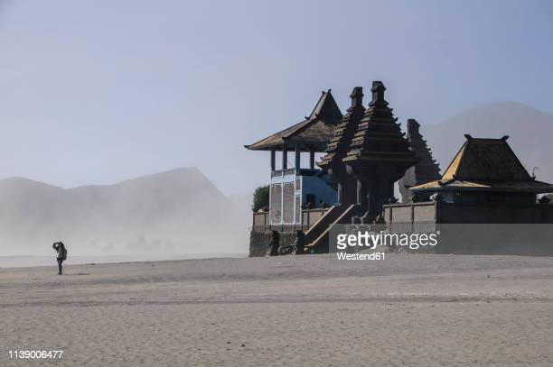 indonesia, java, bromo tengger semeru national park, hindu temple complex in the mount bromo crater - bromo tengger semeru national park stock pictures, royalty-free photos & images