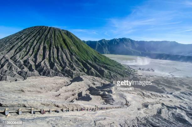 indonesia, java, bromo tengger semeru national park, mount bromo crater - bromo crater stock pictures, royalty-free photos & images