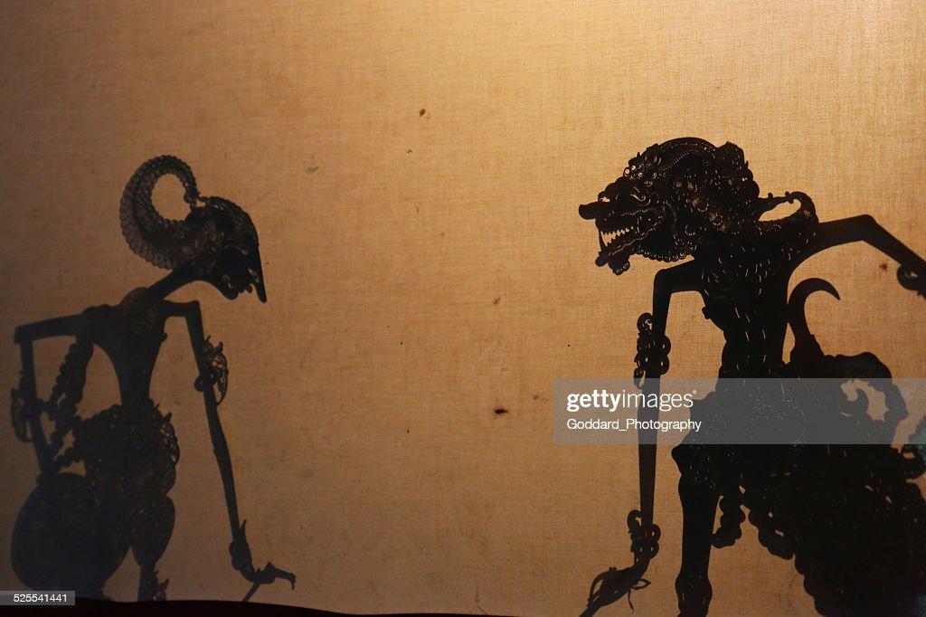 Indonesia: Javanese Shadow Puppet Performance : Stock Photo