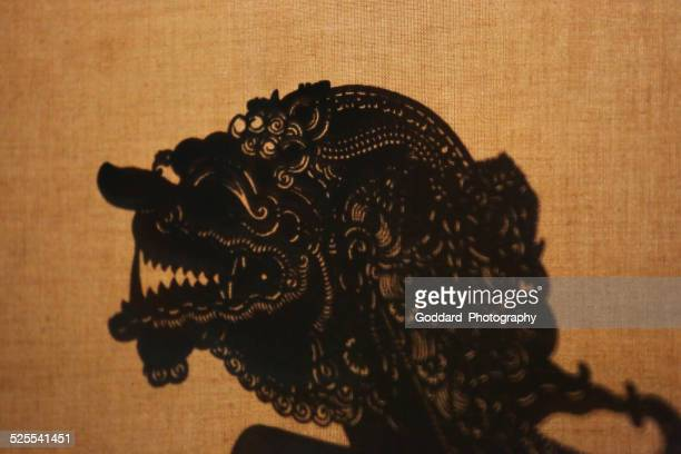 indonesia: javanese shadow puppet performance - shadow puppet stock photos and pictures