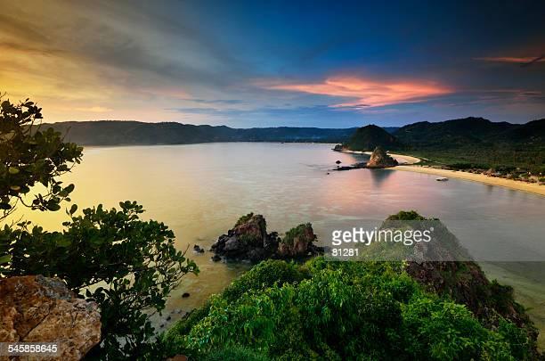 Indonesia, Lombok Island, Seger hill on South coast