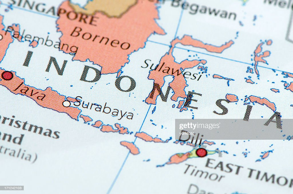 Indonesia map : Stock Photo