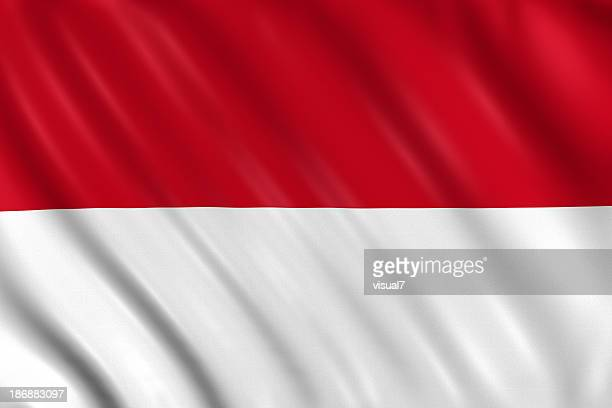 indonesia, monaco, hesse flag - indonesia flag stock photos and pictures