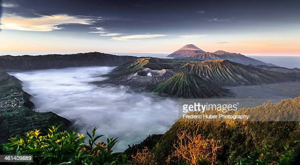 indonesia: mount bromo - bromo tengger semeru national park stock photos and pictures