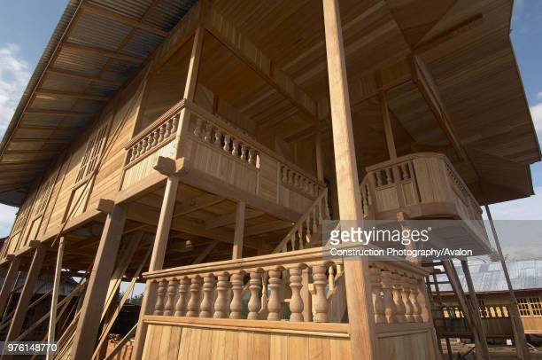 Indonesia, North Sulawesi, near Bitung, Wooden houses factory, Theses houses ares sold as kit abroad.