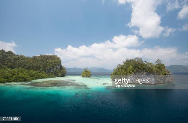 'Small islands that make up Raja Ampat, Indonesia.'