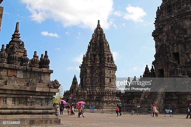 indonesia: prambanan at yogyakarta - yogyakarta stock pictures, royalty-free photos & images