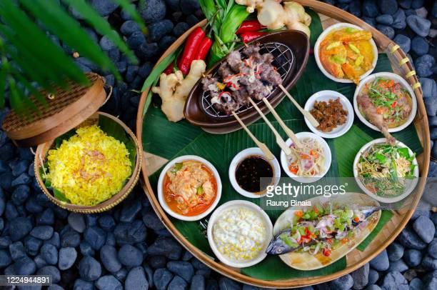 indonesia rijstaffel - indonesien stock-fotos und bilder