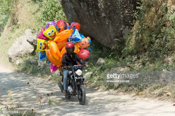 Indonesia Sulawesi Selatan Toraja Utara balloon transport