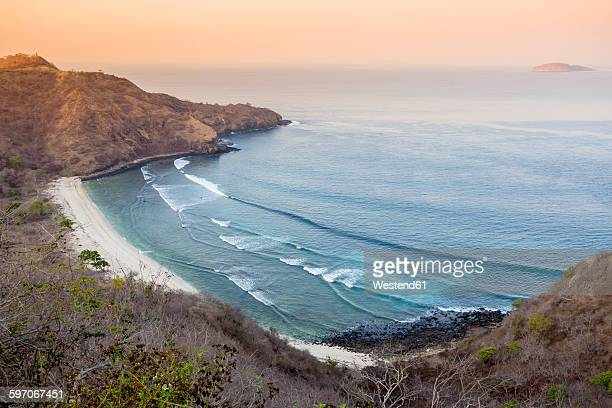 Indonesia, Sumbawa Island, View of beach in the evening