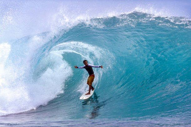Indonesia, Surfing at Padang Padang