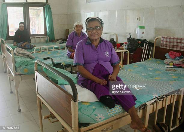 VILLAGE Indonesia This Nov 23 2013 photo shows Samsuning one of the leprosy patients at a leprosy hospital in the village of Sumberglagah in...