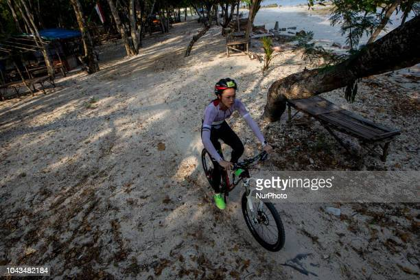 Indonesia triathlon athletes and model Tandiono Kelly during 2018 Rhino Cross Triathlon at Tanjung Lesung Banten Indonesia on September 30 2018 She...