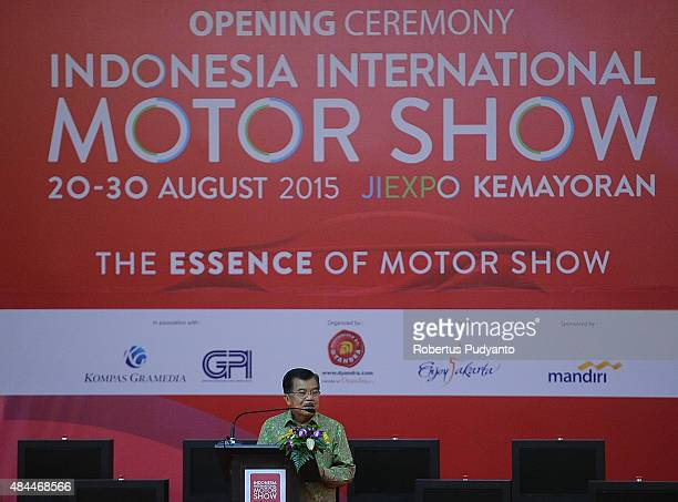 Indonesia Vice President Jusuf Kalla opens The 23rd Indonesia International Motor Show at JI EXPO Kemayoran on August 19, 2015 in Jakarta, Indonesia....