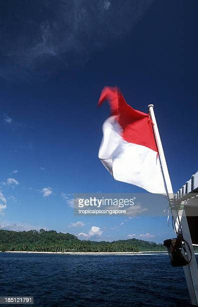 indonesia, west sumatra province, mentawai islands. - indonesia flag stock photos and pictures