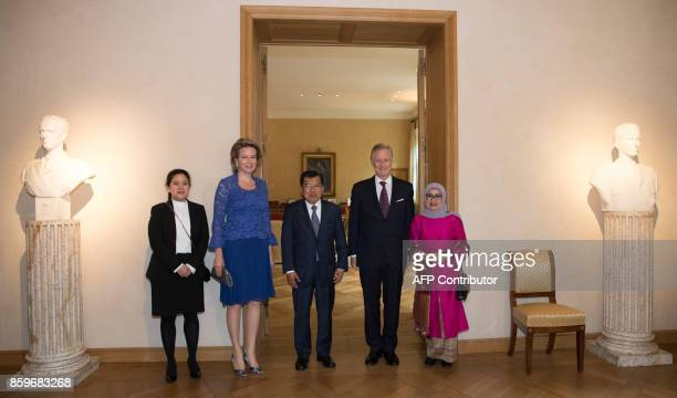 Indonesian Coordinating Minister of human rights and Culture Puan Maharani Queen Mathilde of Belgium VicePresident of Indonesia Jusuf Kalla King...