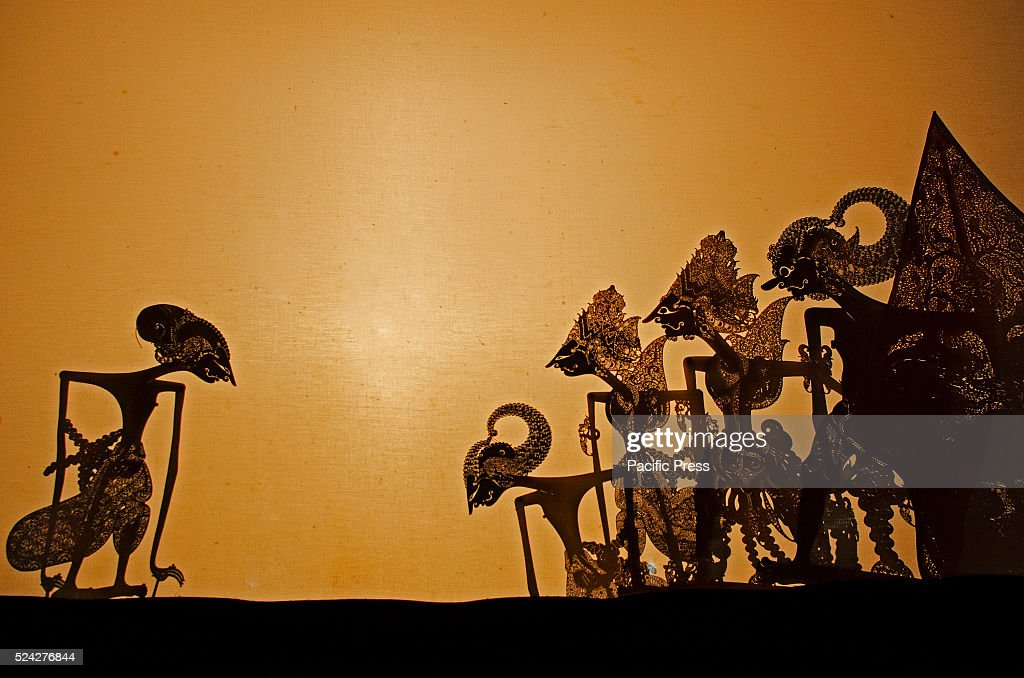 Indonesian culture through shadow puppets. A shadow puppet... : News Photo