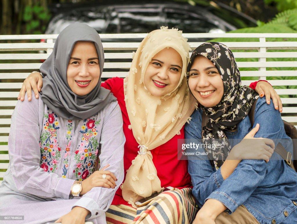 Indonesian Family : Stock Photo