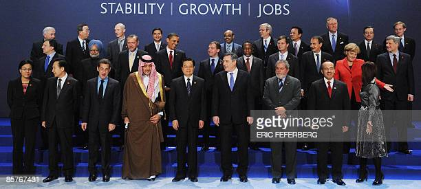 Indonesian Finance Minister Sri Mulyani South Korean President Lee MyungBak French President Nicolas Sarkozy Saudi Foreign Minister Prince Saud...