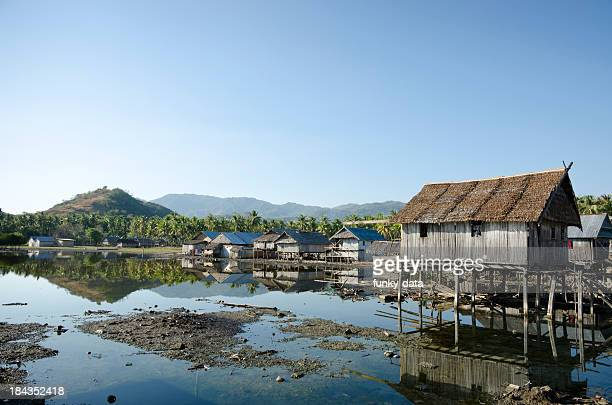 indonesian fishing village - fishing village stock pictures, royalty-free photos & images