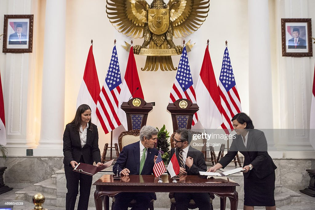Secretary Of State John Kerry Visits Indonesia
