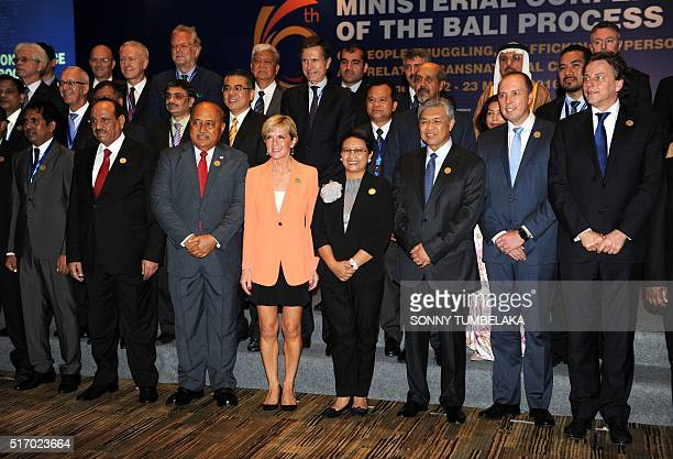Indonesian Foreign Minister Retno Marsudi Australian Foreign Minister Julie Bishop Australian Immigration Minister Peter Dutton Fiji's Foreign...