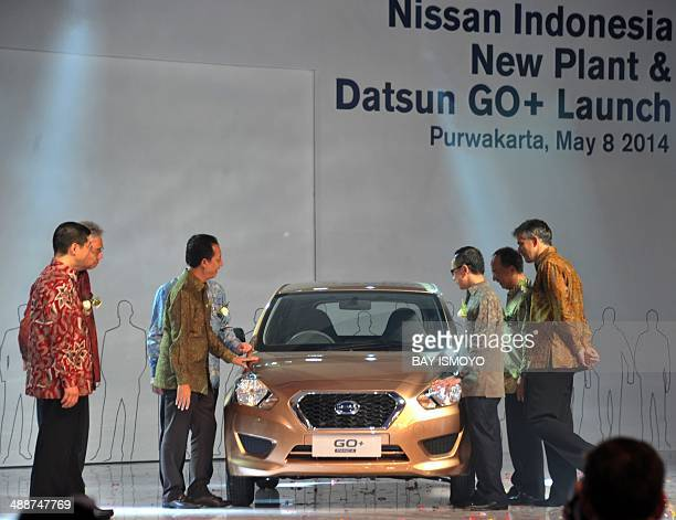 Indonesian government Nissan and Datsun high rank officials launch the Datsun Go and inaugurate of the New Nissan plant in Purwakarta West Java...