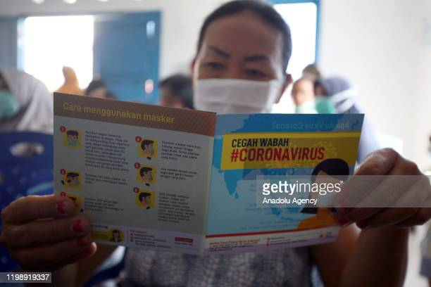 Indonesian medical team provide education socialization examination and the give free masks to residents in Penagi Natuna Regency Riau Islands...