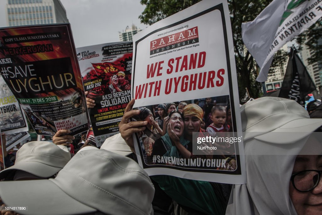 Indonesian Muslims Rally To Support Uyghur Ethnic : News Photo